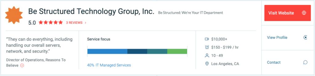 Clutch Be Structured MSP Profile